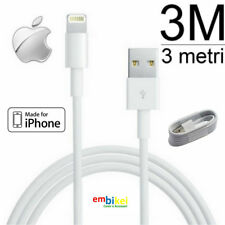 Cavo Cavetto 3 METRI USB 8 PIN Carica Sincronizza IPHONE 8 7 / 6 / 6S / 5 / 5S X