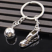 Football Sneakers Metal Alloy Keychain Key Ring Pendant Boy Kid Gift Present