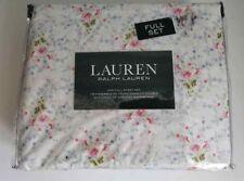 Ralph Lauren Full Deep Fitted Sheet Set 100% Cotton Summer Floral FREE US SHIP