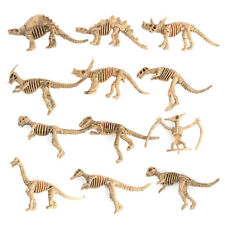 Realistic 12 Assorted Plastic Dinosaurs Fossil Skeleton Figures Kids Toy Gift AU