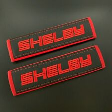 Ford Shelby Black seat belt covers Red embroidery 2PCS