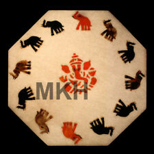 Elephant Marble Tile Inlay Gem Stones Pietra Dura Stone Scagliola Art Vintage