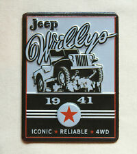 NEW, retro-style 1941 WILLYS JEEP metal advertising magnet with FREE SHIPPING !!