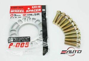 Kics KYO-EI 5mm Rim Wheel Spacer + Ichiba Extend Stud for Toyota Lexus Scion a