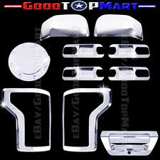 For F150 2015 2016 Chrome Covers Mirrors+4 Door Inserts+Gas+Tail Lights+Tailgate