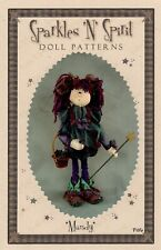 "*New* Cloth Folk Art Doll (Paper) Pattern ""Mandy"" By Sparkles 'N' Spirit"