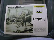 carte FICHE CARD dinosaure  baryonyx  16 x 12 cm