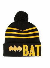 DC COMICS BATMAN ADULT WINTER BEANIE POM HAT CAP ONE SIZE FITS MOST NWT!