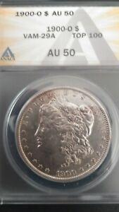 1900-O MORGAN $  * VAM 29A TOP 100 COIN  ANACS AU50  *