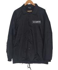 New Men's SECURITY GUARD Embroidery Badges Windbreaker Waterproof Coach Jacket