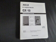 Original Bedienungsanleitung Akai TX-QX-10