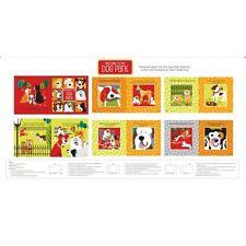 DOG PARK fabric panel 100% cotton by Studio e SOFT BOOK FABRIC PANEL