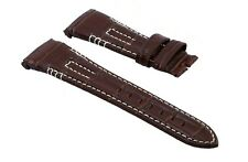 Seiko Velatura Series 26mm Genuine Leather Watch Band Strap Replacement Brown