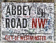"TIN SIGN ""Abby Road Beatles England"" Deco Garage Wall Decor"