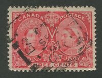 "CANADA #53 USED JUBILEE SQUARED CIRCLE CANCEL ""BRANTFORD"""
