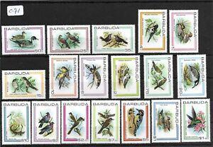 SMT  001, Barbuda BIRDS, set of 18 stamps, MNH