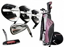 PETITE LADIES PINK ASPECT ALL GRAPHITE COMPLETE GOLF SET BAG+HYBDS+IRONS+PUTTER