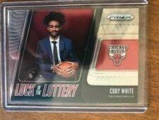 COBY WHITE 2019-20 Prizm Base Rookie Card RC Chicago Bulls #7 Luck of Lottery