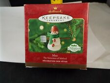 Hallmark Ornament 2000 Max The Snowman Of Mitford Nib