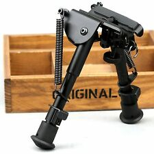 "6""-9"" Adjustable Legs Rifle Gun Sniper Hunting Bipod Sling Swivel Shooter Mount"