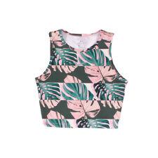 nike run botanical print pink womens dri-fit tank top rrp £27.99 free postage