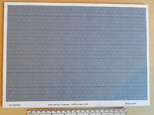 O gauge (1:48) scale) grey roof tile paper - A4 sheet