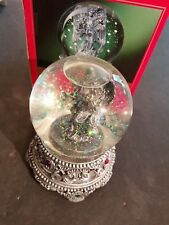 1999 Home For The Holidays Christmas Snow Globe Musical Revolving Angel In Box