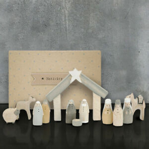 East of India Natural Little Boxed Nativity Set