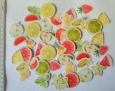 45x Zitrusfrüchte Set Aufkleber Stickerbomb Sommer Früchte Grillparty