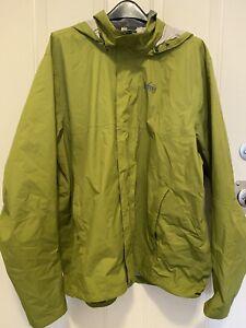 REI CO-OP mens size XXL Rain Jacket  Green  Hooded