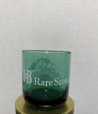 "J&B RARE SCOTCH WHISKEY Green 3 1/2"" Tall Glass, ""Alaska's Preferred Scotch"""