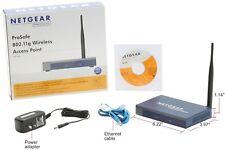 Netgear ProSAFE 802.11g Wireless Access Point 54 Mbps WG103-100NAS antenna PoE