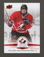 (59212) 2014-15 UD TEAM CANADA JUNIORS RED DILLON HEATHERINGTON #14 (112/199)