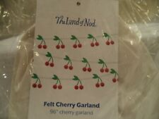 "Land of Nod Cherry Garland Felt 96"" NEW MIB"