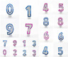 NUMBER AGE CANDLES Birthday Cake All Ages CANDLE Pink Blue Party Cake Decoration