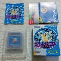 Pocket Monster Blue Version Game Boy Nintendo with Manual Box & Map Pokemon