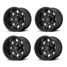 American Racing 172 BAJA AR1725865B 15X8 -19mm Offset 5x4.5 Black Set of 4 Rims