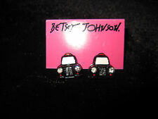 BETSEY JOHNSON  ROYAL ENGAGEMENT TAXI STUD EARRINGS