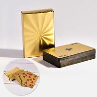 Spielkarten Deck Gold Karten Luxus Pokerkarten für Casino & Poker Plastik Spiel