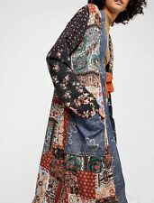 Free People Oversize Songbird Patched Coat ☮ XSMALL