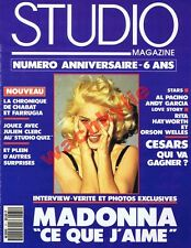Studio n° 71 du 03/1993 Madonna Body Spike Lee Béatrice Dalle