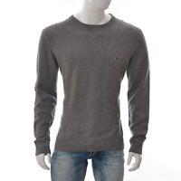 Tommy Hilfiger Premium Ctn XL Uomo Girocollo Maglione Maglia Camicia Manica Grey