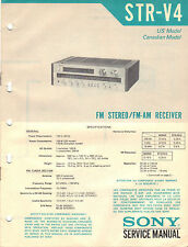 SONY STR-V4 Service Manual stereo tuner original printed factory repair book