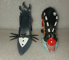 Disney The Nightmare Before Christmas Jack Sally  Shoe Ornament Set