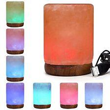 Himalayan Salt Lamp Cube USB Multi-Color Desk or Computer Lamp