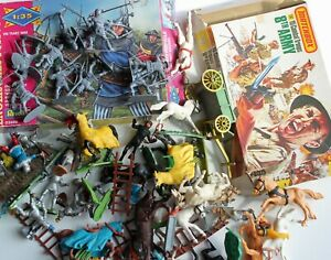Job Lot of Vintage Toy Soldiers Timpo Britains Matchbox and Revell Knights Etc