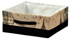 "KESPER 19512 AUFBEWAHRUNGSKORB ""Paris"" BOX KISTE Textil KORB ORDNUNGSBOX faltbar"