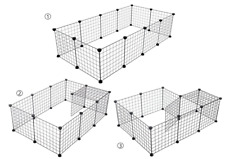 New listing 12 Panel Portable Pet Playpen Small Animal Crate Wire Grid Cage Fence Indoor