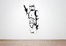 Star Wars Stormtrooper Pared Arte Calcomanía/Pegatina (sala de juegos, niños, adultos, ventiladores)