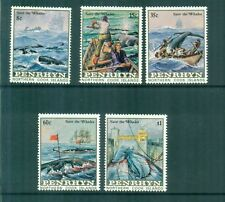 Penrhyn 1983 Whales Sperm Whales Whaling Ships Sg 290-294 Mnh